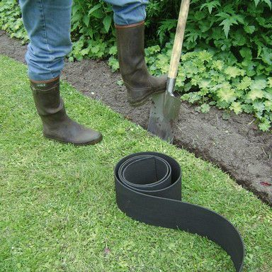 plastic garden edging | Lawn edging, Flower bed edging, Garden edgi