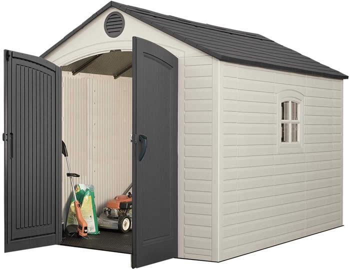 Lifetime 8x10 Plastic Storage Shed Kit w/ Floor (640
