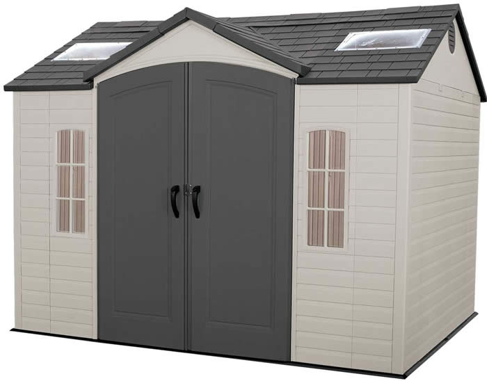 Lifetime 10x8 Plastic Garden Shed with Floor (6000