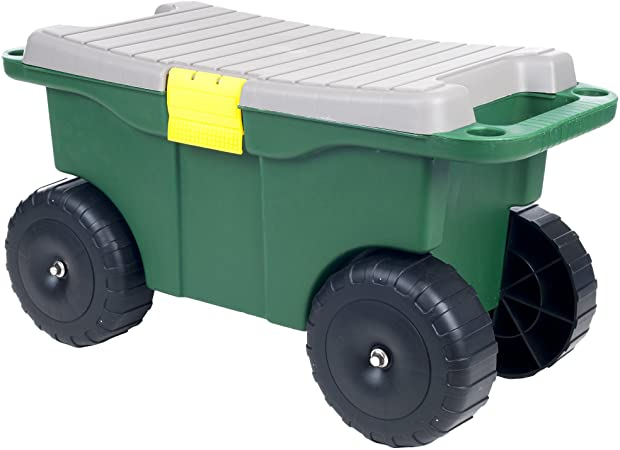 "Amazon.com: Pure Garden 75-MJ2011 20"" Plastic Garden Storage Cart ."