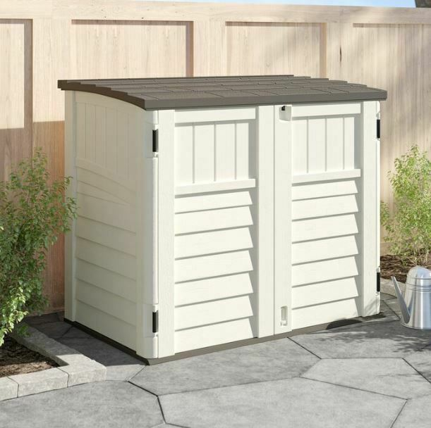 Outdoor Storage Utility Shed Tool Cabinet Plastic Garden Patio .