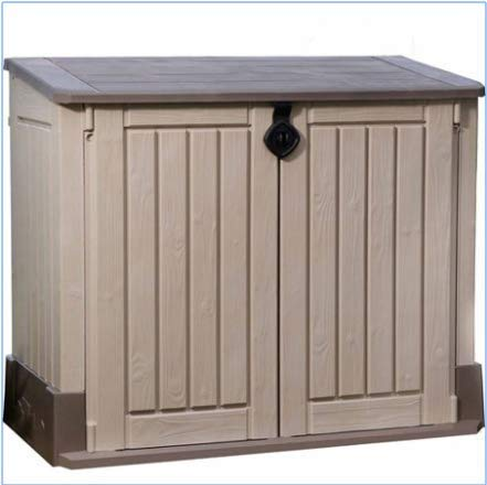 Plastic Outdoor Storage, Shed - 30-Cu.Ft., Color Beige/Taupe - Buy .