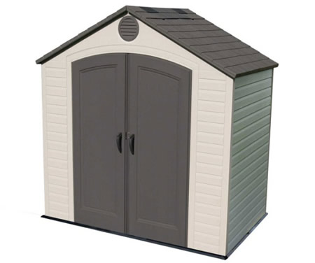 Lifetime 8x5 Small Plastic Storage Shed w/ Floor (641