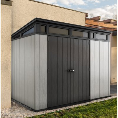 ☀ Top Seller Artisan 9 ft. W x 7ft. 5 in. D Plastic Storage Shed .