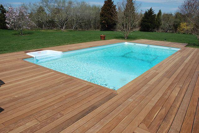 Ipe Pool Deck | Wood pool deck, Decks around pools, Backyard po