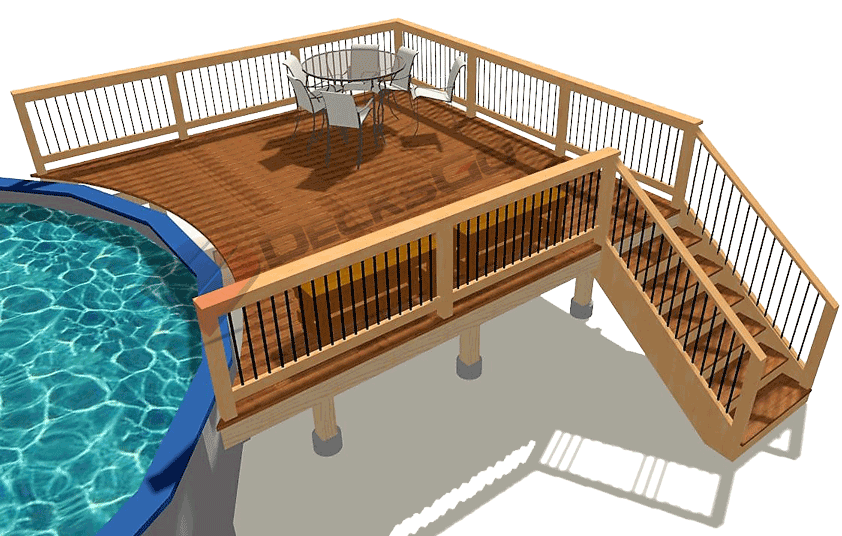 Basic Rectangle Pool Deck - Decksgo Pla