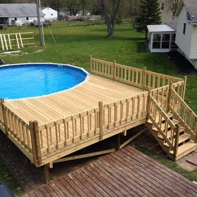 Above Ground Pool Deck Ideas, Designs & Pictures | Pressure .