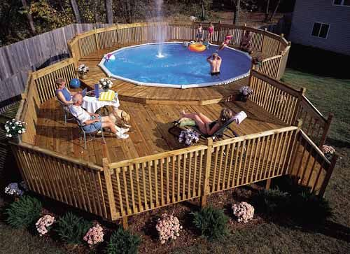 How to Build a Pool Deck - Above Ground Pool Deck Pla