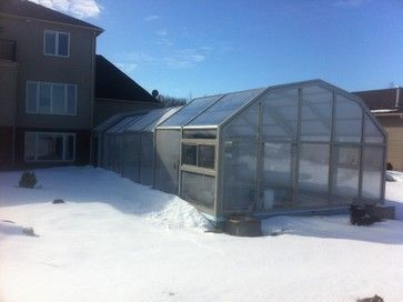 Our Retractable Pool Enclosure in winter modern-swimming-pools-and .