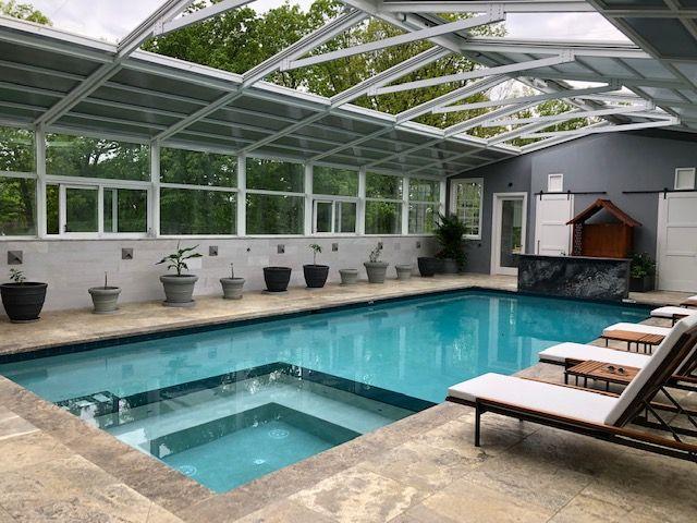 Residential Retractable Pool Enclosure, South Brunswick, NJ .