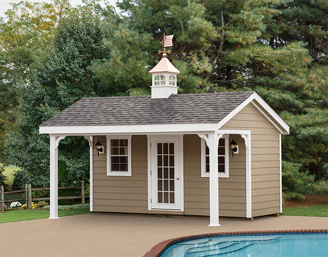 Small Pool House | Backyard Pool Houses | Stoltzfus Structur