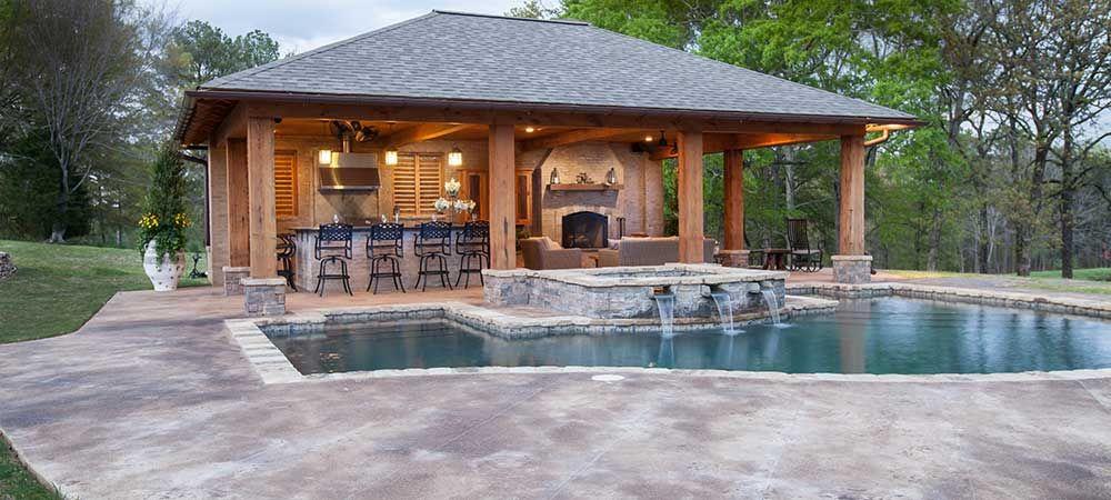 Pool House Designs - Jackson, MS … | Pool house designs, Backyard .