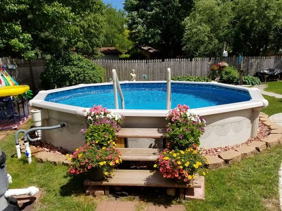 Above Ground Swimming Pool Ideas for Attractive Backyard | DecorTren