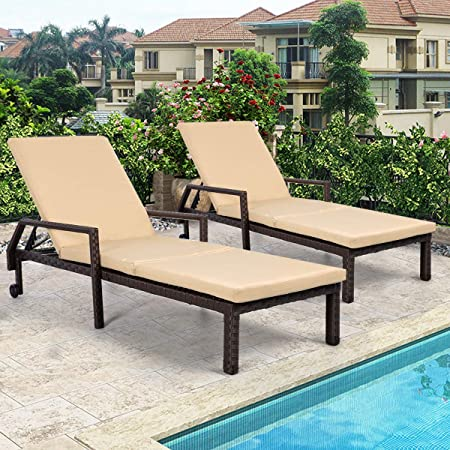 Amazon.com: AECOJOY Adjustable Outdoor Chaise Lounge Chair PE .