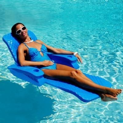 Folding Baja II Pool Float Lounge | Pool lounge, Pool float, Pool .