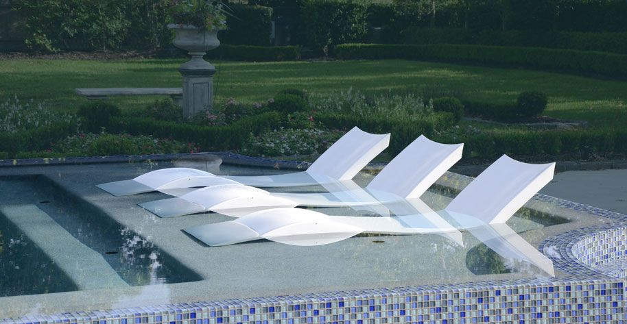 Ledge Lounger - how cool is this?! A lounge chair designed to be .