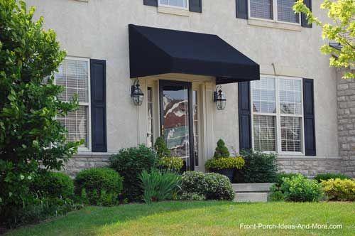 Porch Awnings | Porch awning, Front door awning, Fabric awni