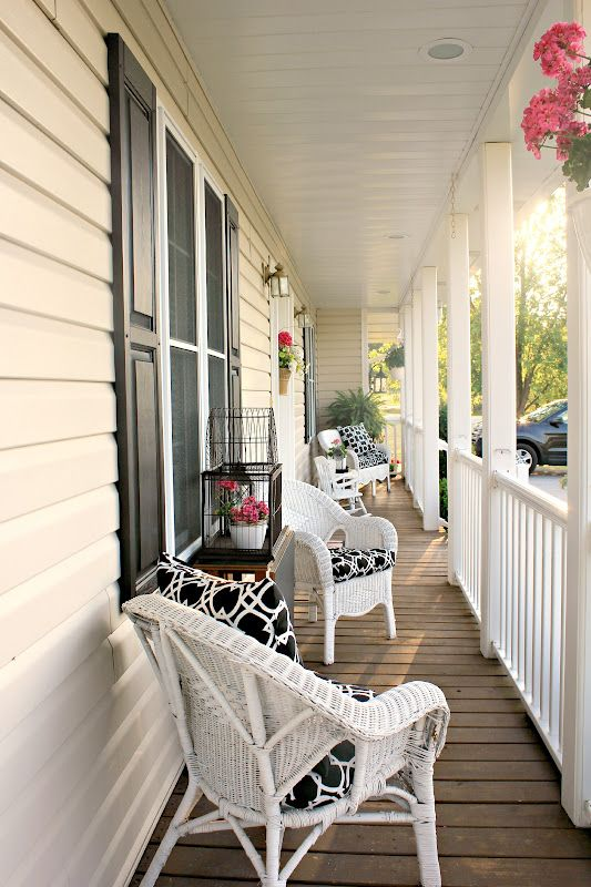 I'm Sharon with you...: refreshing the porch... | Porch furniture .
