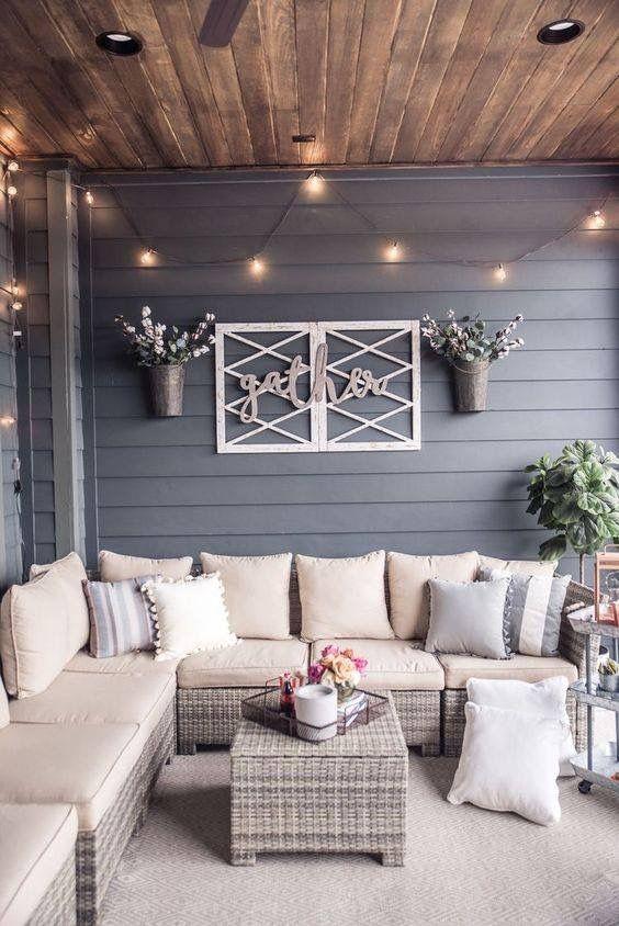Screened in back porch ideas | Terrace decor, Home, Dec