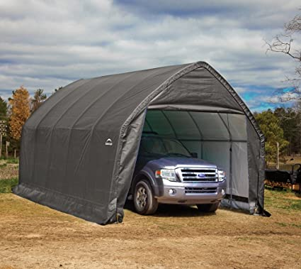 Amazon.com: ShelterLogic 13' x 20' x 12' Garage-in-a-Box SUV and .