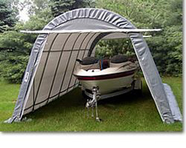 Patio Store. MDM Rhino Shelters 14 x 24 x 10 Round Style Portable .