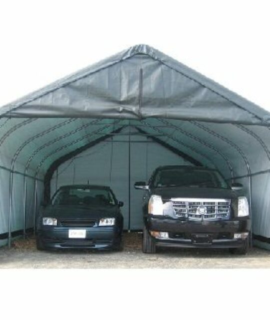 Portable Two Car Garage 22 x 24 - BetterShelters.com .