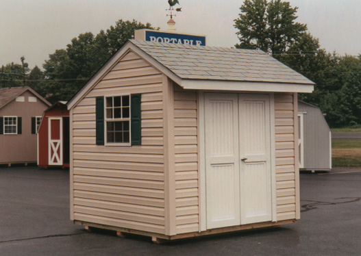 8' x 8' Salt Box Style Shed (SB-7) - Portable Buildings, Inc .