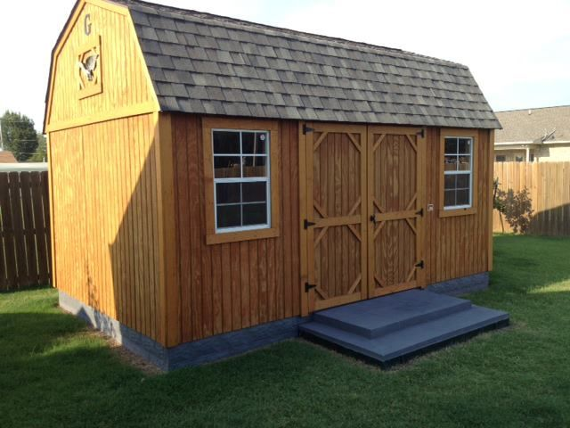 A customer added skirting to their Graceland Portable Building .
