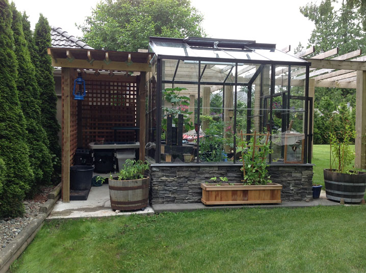 Legacy Greenhouse with Potting Shed - BC Greenhouse Builde