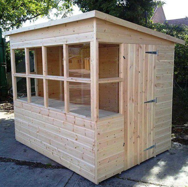 The Gardener Wooden Potting Shed 8 x 6 ft | Garden sheds for sale .