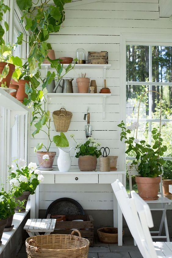 Monday Inspiration | Garden shed interiors, Potting sheds .