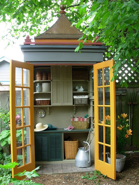 Tiny potting shed (inside) | Shed design, Potting sheds, Sh