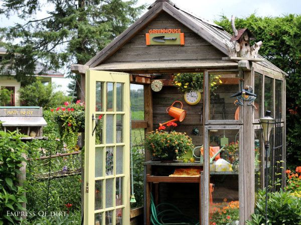 20 Garden Art Projects & Gift Ideas - Empress of Dirt | Shed .