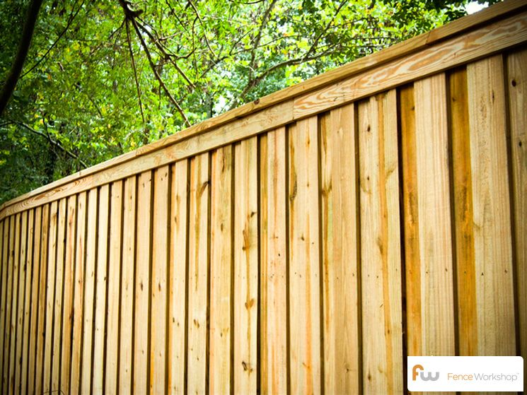 The Tillman™ Wood Privacy Fence | Pictures & Per Foot Pricing .