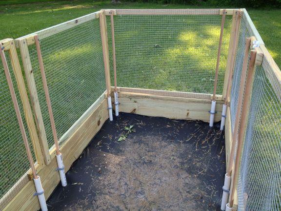 Raised Garden Bed | | Building a raised garden, Diy garden fence .