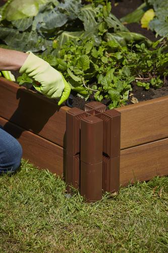 Master Mark Plastics® Brown Raised Garden Bed Starter Kit at Menards