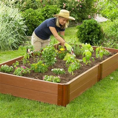 Classic Sienna Raised Garden Bed, 4' x