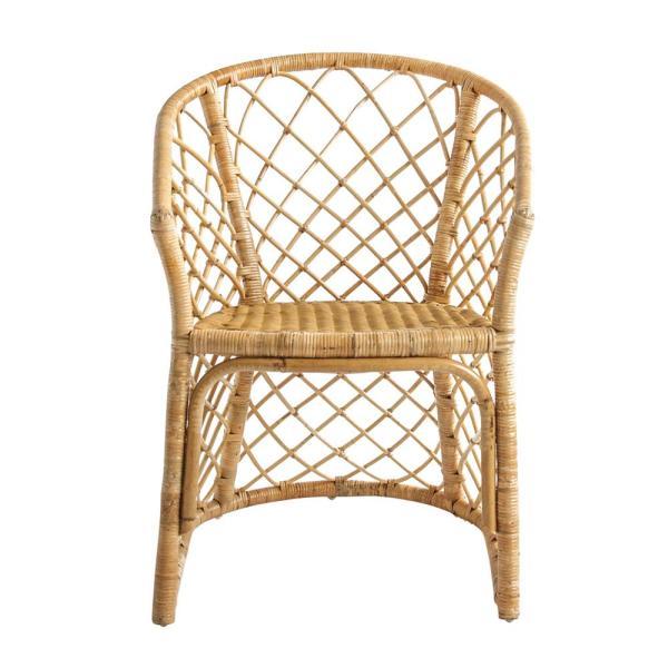 3R Studios Beige Handwoven Rattan Chair-DF1720 - The Home Dep