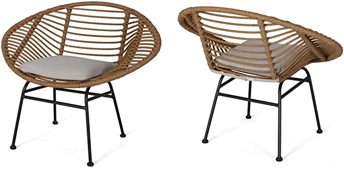 Amazon.com: Christopher Knight Home Aleah Indoor Woven Faux Rattan .