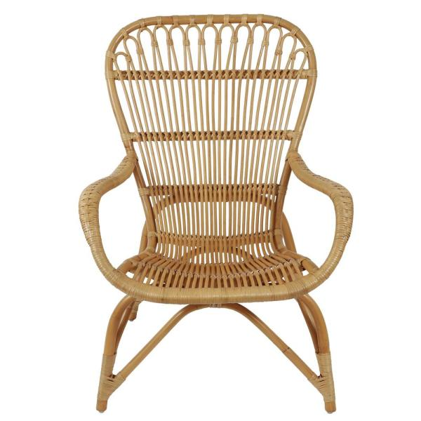 Decor Therapy Kai Natural Rattan Arm Chair-FR9473 - The Home Dep