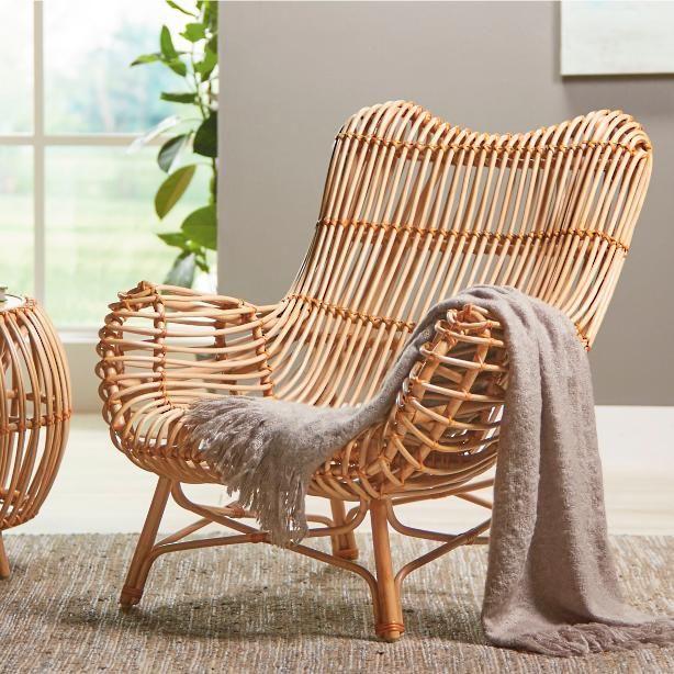 Sairah Rattan Arm Chair | Grandin Road | Statement chairs, Rattan .