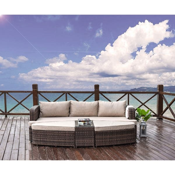 Shop Moda Luxury Outdoor Sectional Daybed Sofa Set Rattan Garden .