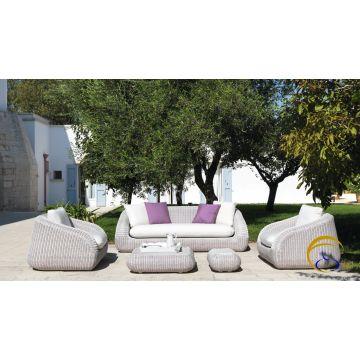 Contemporary poly rattan garden sofa furniture ( Alu frame .