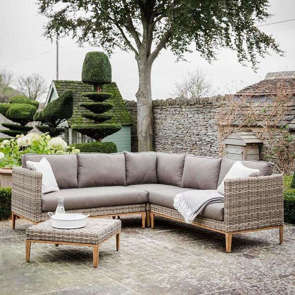 Garden Trading Walderton Corner Sofa Set In All-Weather Rattan .