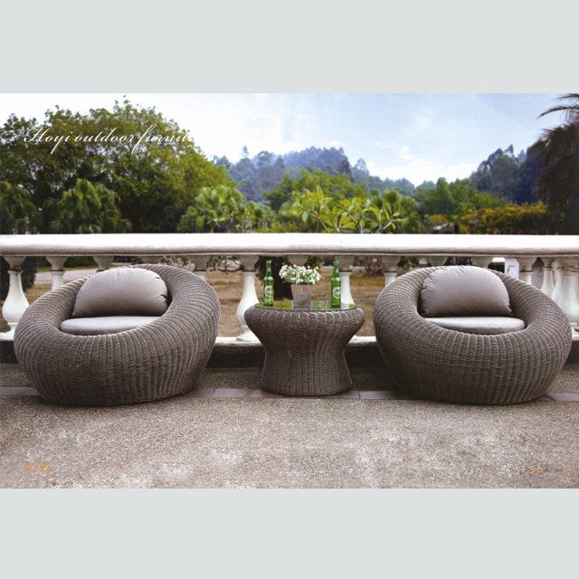 RT-15 Wholesale outdoor patio furniture rattan sofa wicker set .