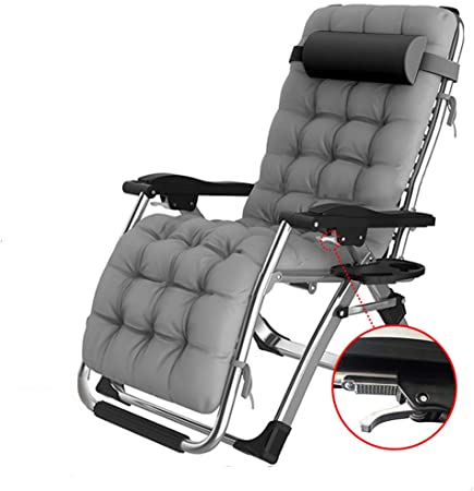 Amazon.com : Extra Wide Reclining Garden Chair Outdoor Camping .
