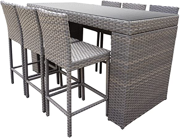 Amazon.com : TK Classics Oasis Bar 7 Piece Outdoor Wicker Patio .