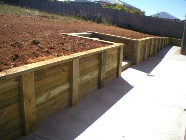 wooden garden retaining wall brilliant ideas retaining wall timber .