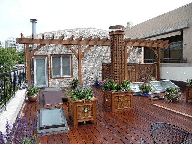 Chicago Roof Decks & Landscaping - American Traditional - Terrace .