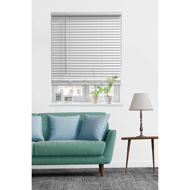 "Mainstays 1"" Cordless Room Darkening Vinyl Blinds, White - Walmart ."